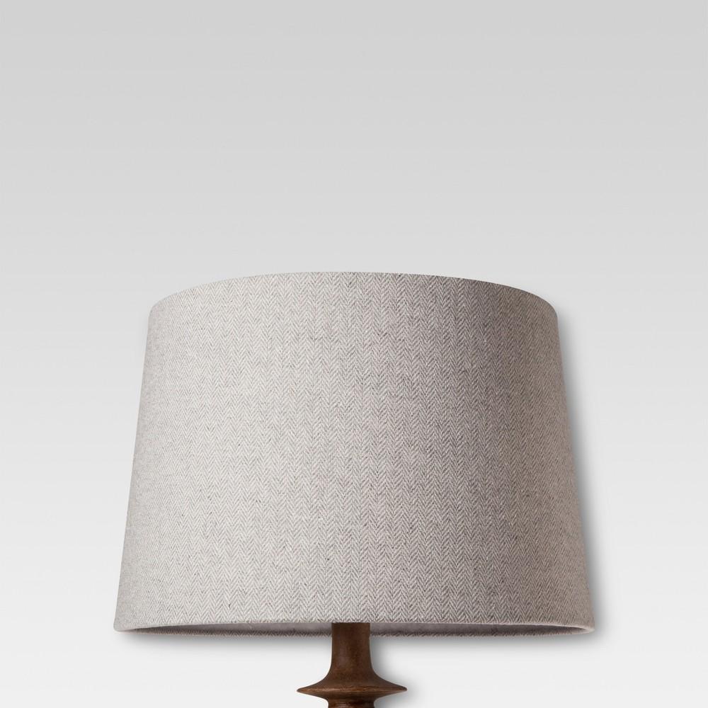 Image of Large Gray Herringbone Lamp Shade - Threshold