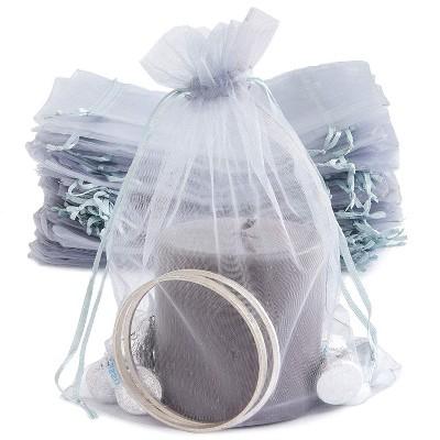 "10 pcs 5x7/"" White ORGANZA FAVOR BAGS Wedding Party Reception Gift Favors SALE"
