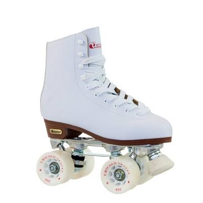 Chicago Skates Women's Deluxe Leather Rink Roller Skates - White (9)