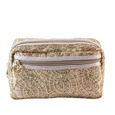 Sonia Kashuk™ Overnighter Makeup Bag - Metallic Embroidery Gold - image 1 of 3