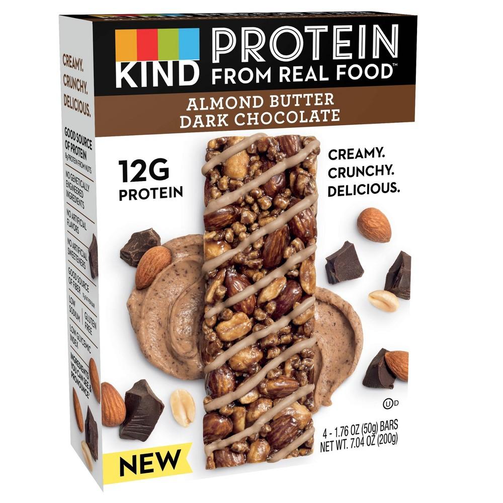 Kind Protein Almond Butter Dark Chocolate Bars - 4ct