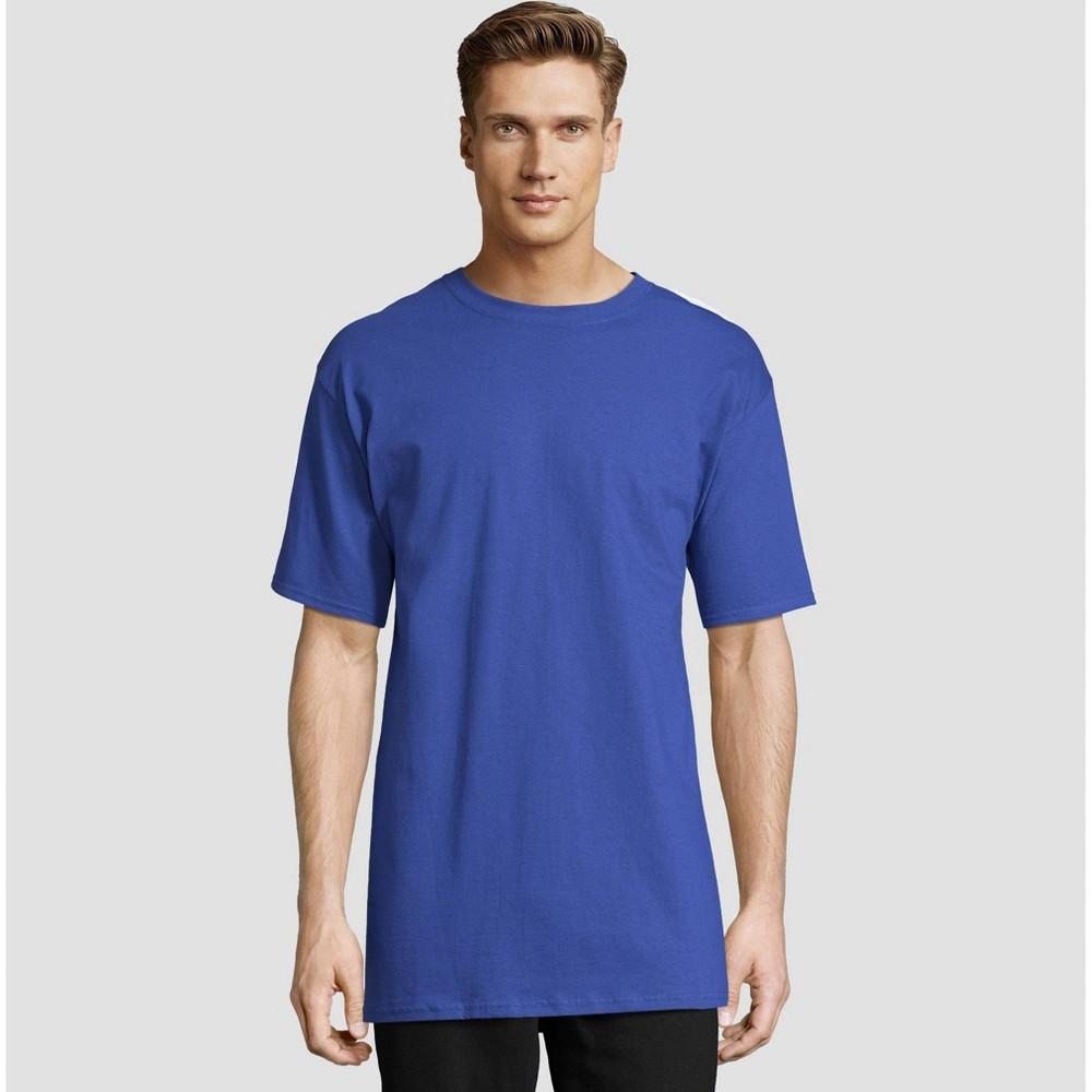 Hanes Men's Tall Short Sleeve Beefy T-Shirt - Deep Blue Xlt