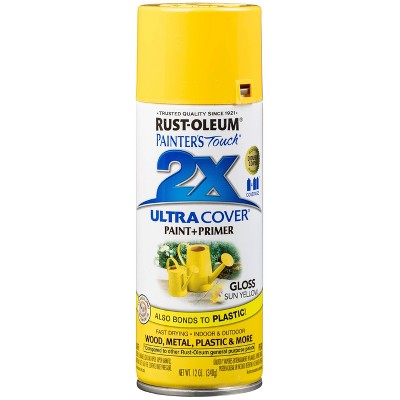Rust-Oleum 12oz 2X Painter's Touch Ultra Cover Gloss Sun Spray Paint Yellow