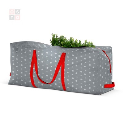OSTO Artificial Christmas Tree Storage Bag for Disassembled Trees Up to 9 ft.; Has Shoulder Straps, 2-Way Zipper, and Card Slot, Waterproof Polyester