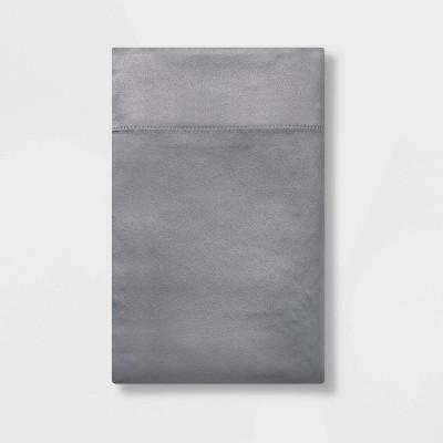 Standard Solid Satin Pillowcase Dark Gray - Room Essentials™