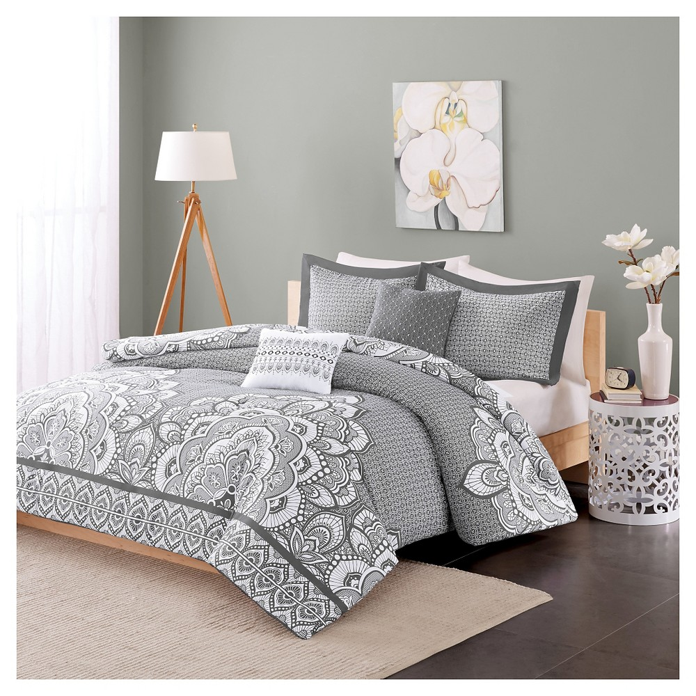 Aimee Duvet Cover Set (Twin/Twin Extra Long) 4pc - Gray