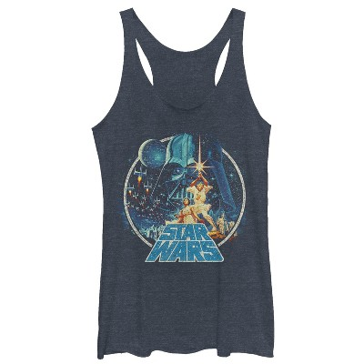 Women's Star Wars Classic Scene Circle Racerback Tank Top