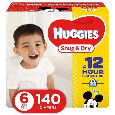 Huggies Snug & Dry Diapers - Size 6 (140ct)