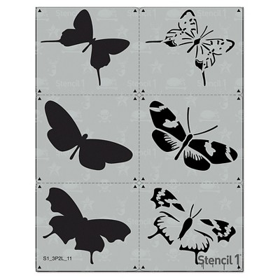"""Stencil1 Butterfly Multipack 3ct - Layered Stencil 8.5"""" x 11"""""""