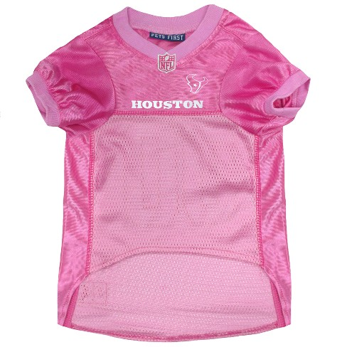 detailed look 0c985 a5435 NFL Pets First Pink Pet Football Jersey - Houston Texans