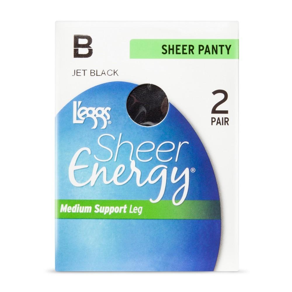 Women's L'eggs Sheer Energy All Sheer Pantyhose - Q0308S - Jet Black B