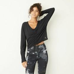 Women's Long Sleeve Cinch Front Top - JoyLab™