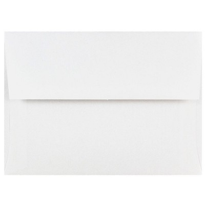 JAM Paper A6 Invitation Envelopes 4.75 x 6.5 White 31820