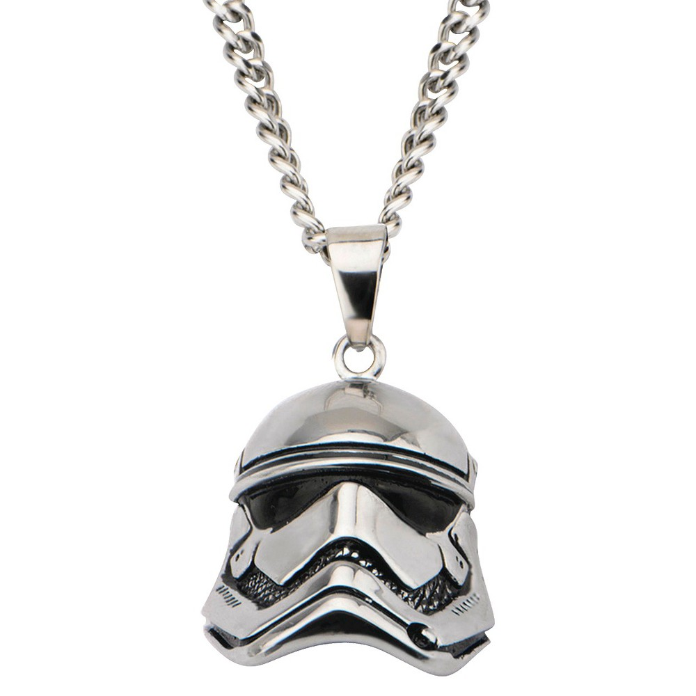 Men's Star Wars Stormtrooper Laser Etched Stainless Steel Dog Tag Pendant with Chain (22)