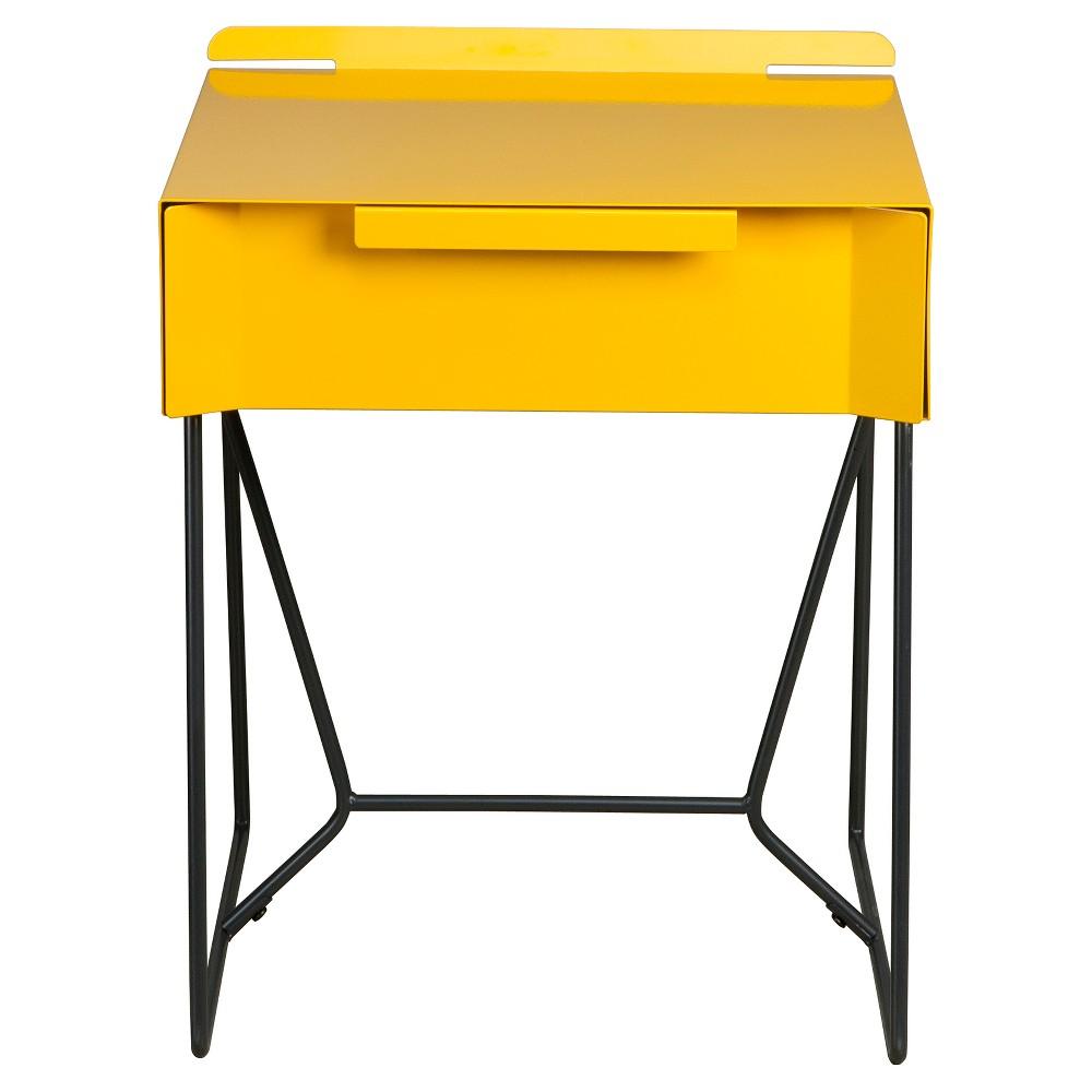 Soft Modern Side Table - Yellow Saffron/Black - Sauder