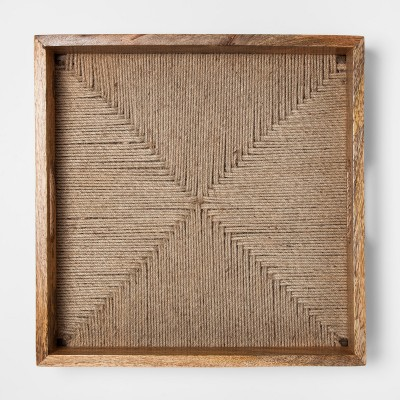 Wood and Jute Rope Tray - Threshold™