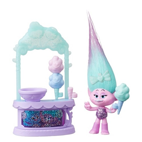 DreamWorks Trolls Satin's Sweet Treats Playset - Cotton Candy Stand with Figure and Accessories - image 1 of 2