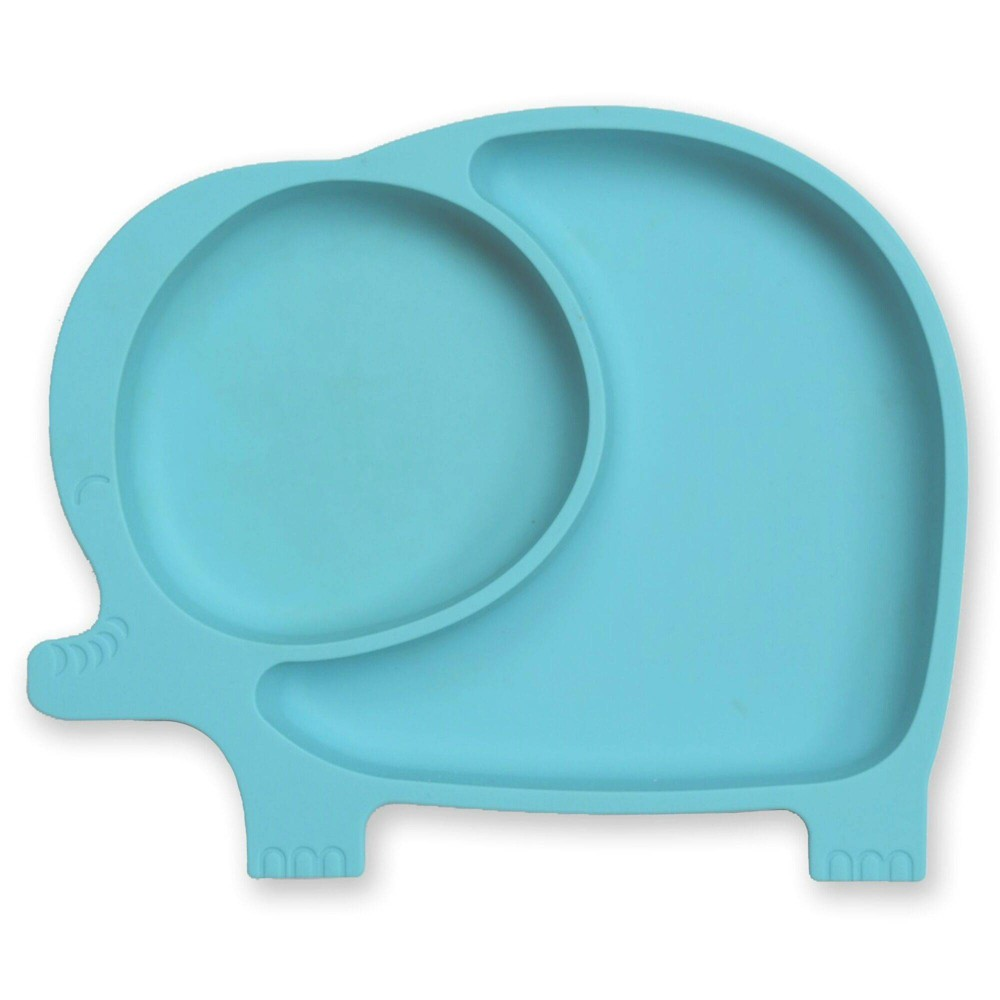 Image of Sage Spoonfuls Silicone Suction Elephant Plate - Blue