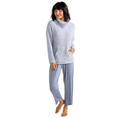 Softies Women's Marshmallow Slouch Turtleneck 2 Pc Lounge Set