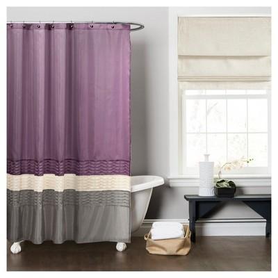 Mia Shower Curtain Purple/Gray - Lush Decor®