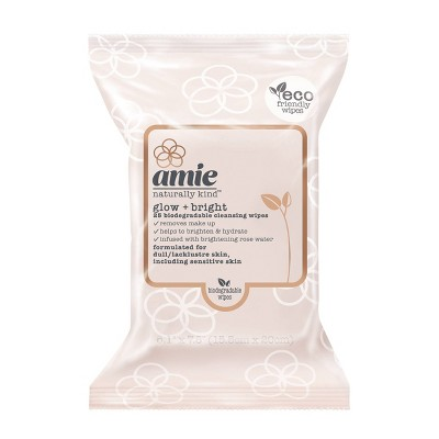 Amie Glow & Bright Cleansing Wipes - Pink - 25ct