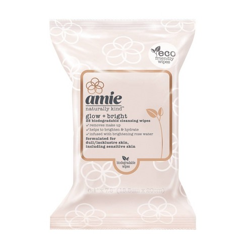 Amie Glow & Bright Cleansing Wipes - Pink - 25ct - image 1 of 4