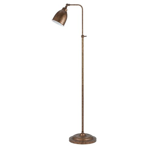 Cal Lighting Rust Finish Metal Floor Lamp With Adjule Height