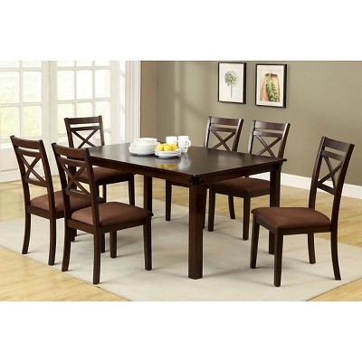 Merveilleux IoHomes Dallas 7pcs Dining Table Set Wood/Espresso : Target