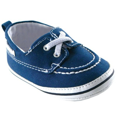 Luvable Friends Baby Boy Crib Shoes, Blue Slip On