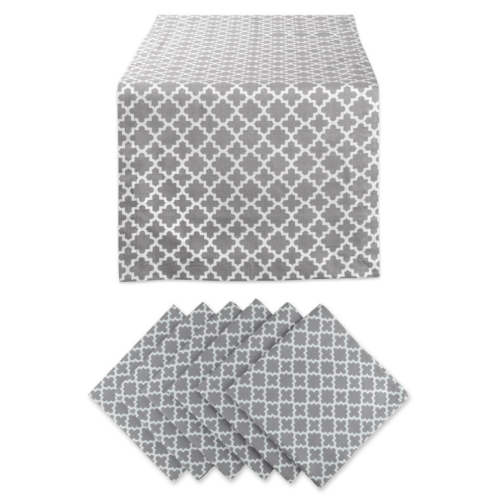 Lattice Table Set Gray - Design Imports