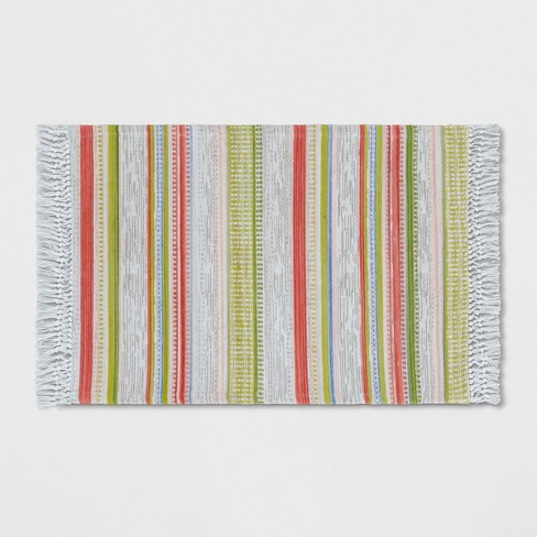 2'X3' Woven Multi Stripe Accent Rug - Opalhouse™ - image 1 of 3