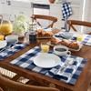 "Farmhouse Living Buffalo Check Napkins, Set of 4 - 20"" x 20"" - Elrene Home Fashions - image 3 of 4"