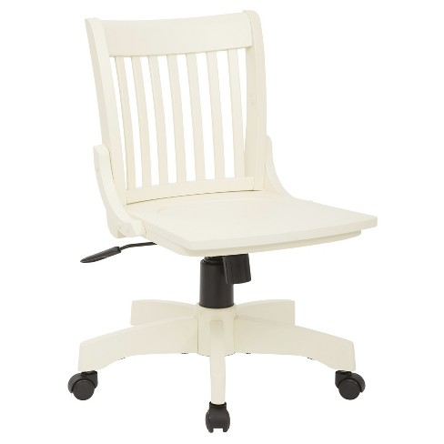 Armless Wood Banker's Chair Antique White - Office Star - Armless Wood Banker's Chair Antique White - Office Star : Target
