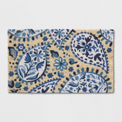Blue/White Paisley Tufted Doormat 1'6 X2'6  - Opalhouse™