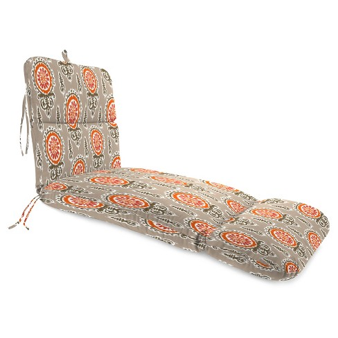 Outdoor Knife Edge Chaise Lounge Cushion In Michelle Salmon  - Jordan Manufacturing - image 1 of 1