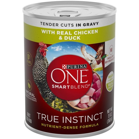 Purina ONE Natural Gravy Wet Dog Food SmartBlend True Instinct Tender Cuts With Real Chicken & Duck - 13oz Can - image 1 of 4