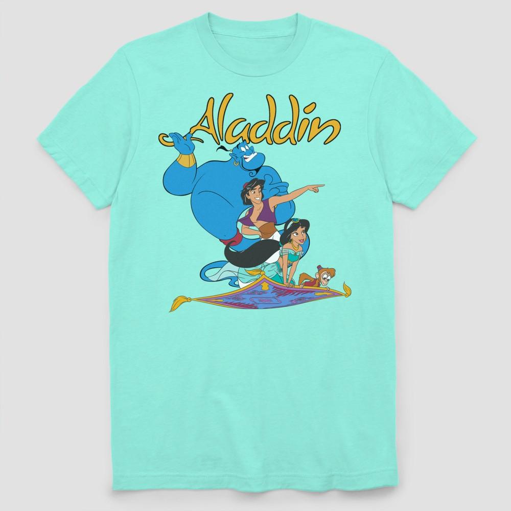 Men's Disney Princess Short Sleeve Graphic T-Shirt Mint 2XL, Blue