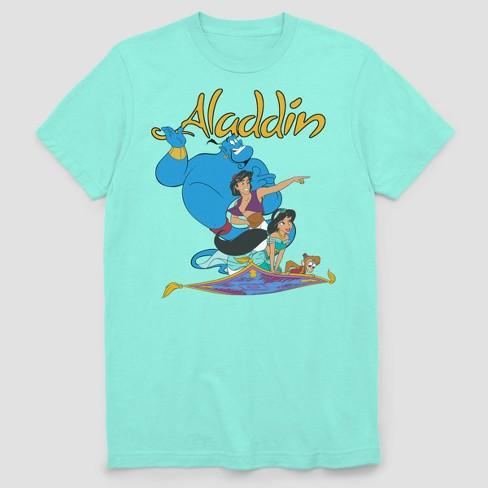 Men S Disney Aladdin Flying Buddies Short Sleeve Graphic T Shirt