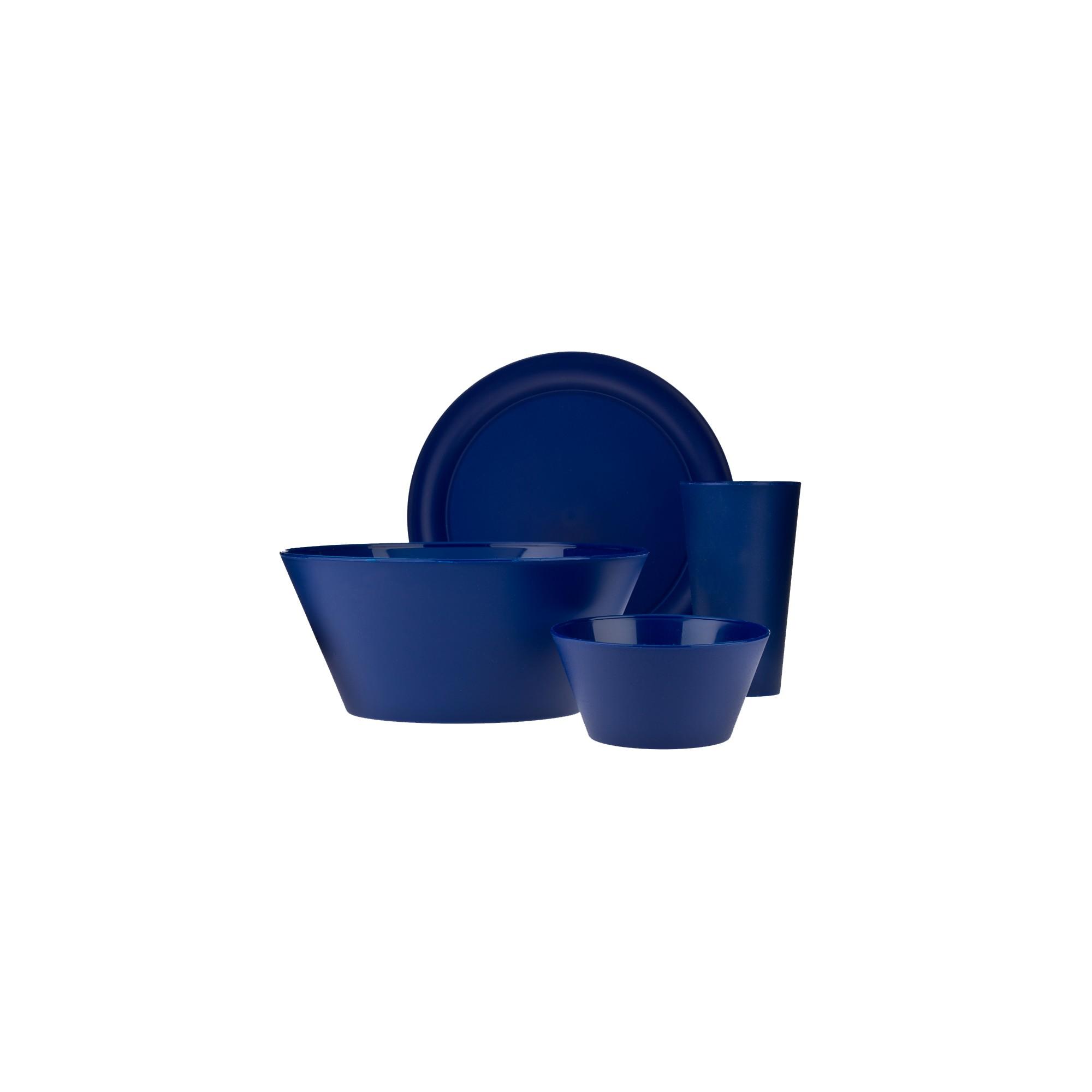 CreativeWare Plastic 13pc Dinnerware Set - Navy