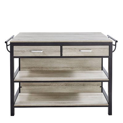 Carson Counter Kitchen Table Driftwood/Gray - Steve Silver Co.