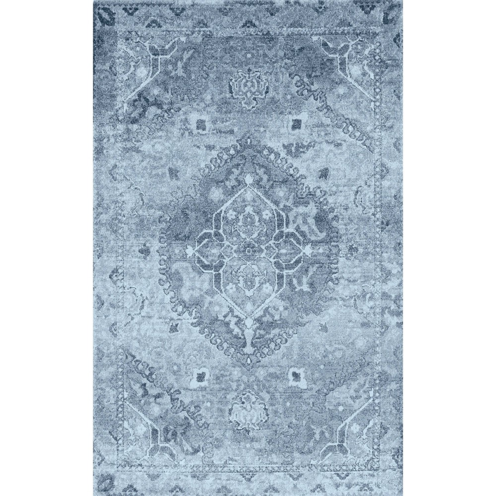 "Image of ""3'3""""X5'3"""" Blue Solid Woven Accent Rug - Addison Rugs"""