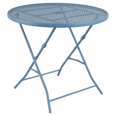 Metal Punch Folding Patio Bistro Table - Blue - Threshold™
