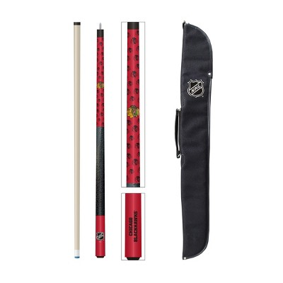 NHL Chicago Blackhawks Cue And Case Combo Set