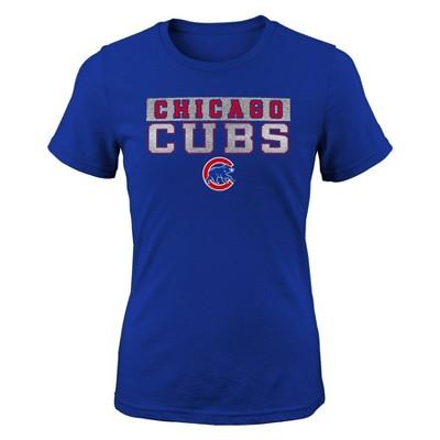 MLB Chicago Cubs Girls' Crew Neck T-Shirt