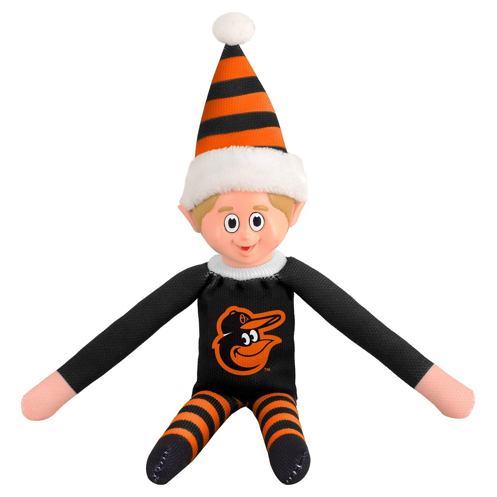 Forever Collectibles Baltimore Orioles Elf Forever Collectibles - MLB Team Elf, Baltimore Orioles - This Forever Collectibles Team Elf with provide hours of joy and holiday cheer for all. This officially licensed elf is sporting your favorite team's logo on his sweatshirt and a Santa hat for the season. Start a new tradition this year with your 2015 team elf! Age - 3 and up. Team elf is approximately 14 inches tall.