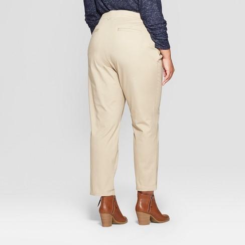 b93a9f9380a Women s Plus Size Chino Pants - Ava   Viv™ Khaki 18W   Target
