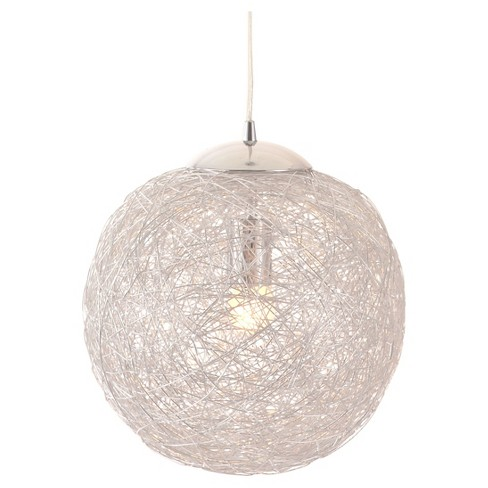 "Modern Aluminum and Chrome Adjustable 12"" Ceiling Lamp - ZM Home - image 1 of 4"
