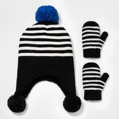 Toddler Boys' 2pk Knit Trapper with Mittens - Cat & Jack™ 12-24M