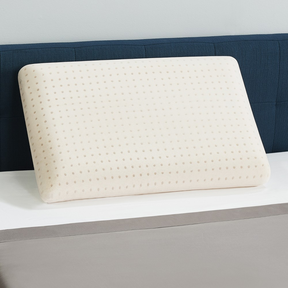 Image of Standard/Queen Gel Memory Foam Pillow with Copper Embedded Antimicrobial Pillow Cover Beige - CopperFresh