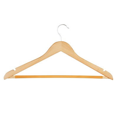 Honey-Can-Do 24-Pack Wood Hangers - Natural